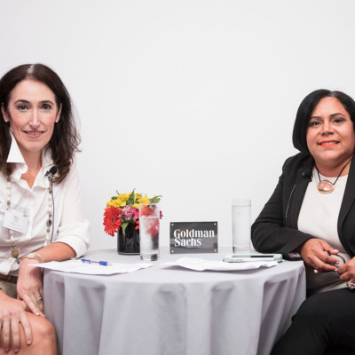 Goldman Sachs' Paula Arrojo, managing director and private wealth advisor (left) alongside Anilu Vazquez-Ubarri, managing director, chief diversity officer and global head of talent.